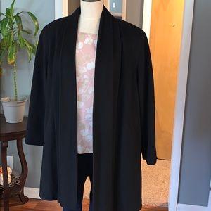 Vintage drape pleated trench coat